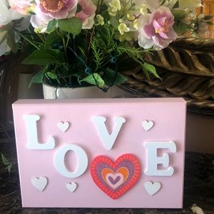 🔥3/$20Hand crafted decorative sign.Pretty in pink
